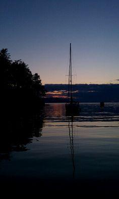 Sunset Patos Island, San Juans