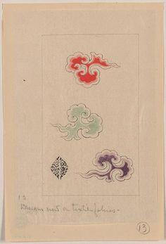 Designs now on textile fabrics. Source: Library of Congress. Chinese Patterns, Japanese Patterns, Japanese Design, Japanese Art, Textures Patterns, Fabric Patterns, Print Patterns, Henna, Mehndi