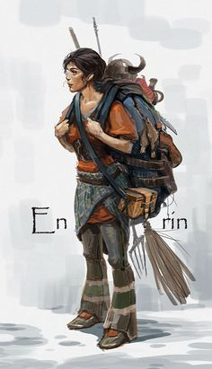 Character concept ENRIN by Stefana-Tserk female fighter pack rat collector scavenger armor clothes clothing fashion player character npc | Create your own roleplaying game material w/ RPG Bard: www.rpgbard.com | Writing inspiration for Dungeons and Dragons DND D&D Pathfinder PFRPG Warhammer 40k Star Wars Shadowrun Call of Cthulhu Lord of the Rings LoTR + d20 fantasy science fiction scifi horror design | Not Trusty Sword art: click artwork for source