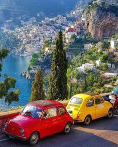 Amalfi Coast Tours, Amalfi Coast Italy, Positano Italy, Fiat 500, Wonderful Places, Beautiful Places, Amazing Places, Places To Travel, Places To Visit