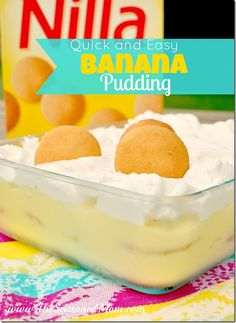 The recipe for this Quick and Easy Banana Pudding was handed down to me by a family friend. It's been a favorite for generations! The perfect summer dessert for a party, cookout, or potluck!