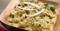 Recette de Curry de poulet léger au lait de coco et aux amandes effilées. Facile et rapide à réaliser, goûteuse et diététique.