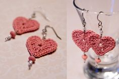 crochet+earrings+patterns+free | Free Crochet Heart Patterns