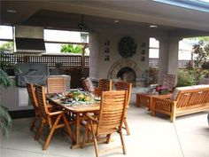 Enclosed Patio With Fireplace