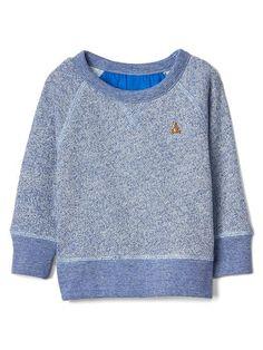 Logo marl zip hoodie | Gap