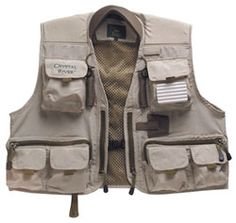 CRYSTAL RIVER DELUXE FLY VEST EXTRA LARGE