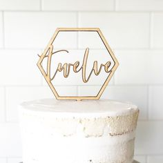New! Custom Geometric Cake Topper Geometric Cake, Wood Cake, Anniversary Parties, Safe Food, Birch, Cake Toppers, Birthday Parties, Delicate, Place Card Holders