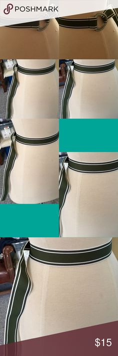 Emerald green and white belt Small/Medium Accessories Belts