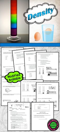 Volume, Mass, and Density | Worksheets