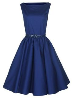 $39.99-$48.34 $46.99  Lindy Bop Classy Vintage Audrey Hepburn Style 1950's Rockabilly Swing Evening Dress
