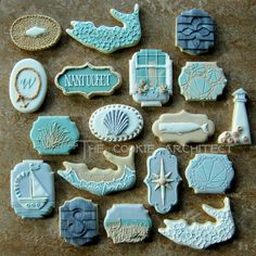 Nantucket cookies by The Cookie Architect