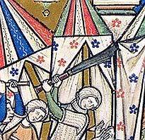 Maciejowski bible - Strange sword-chopper