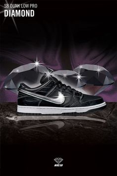 super popular 13d72 a1d46 Nike SB Dunk Low Pro Diamond Supply Co. Black Size 11 fashion clothing