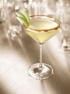 2 oz. Smirnoff® Kissed Caramel Flavored Vodka  1.5 oz. apple juice  0.25 oz. lemon juice  0.25 oz. simple syrup