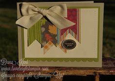 Stampin' Up! Thanksgiving Faux Stitched Card