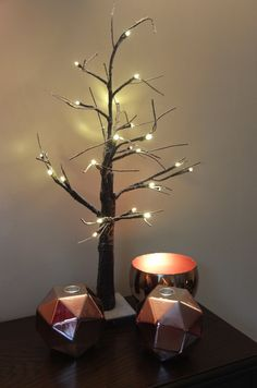 Love these nordic style twig effect Christmas trees