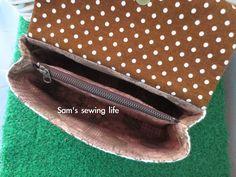 Sam's sewing life: 加盖隔层手拿包(附纸型)