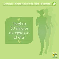 Buenos días, ¿te imaginas cuál es nuestro consejo saludable de la semana? Saca por lo menos 30 minutos diarios para practicar #ejercicio, tu salud te lo agradecerá ;) #deporte