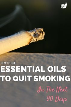 Trying to quit smoking??? Two unusual essential oils might be all you need to help you succeed this time.