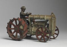 Robert Young Antiques - Folk Art Collection. Toy Tractor and Driver #FolkArt