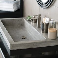 Native Trails Trough 3619 NativeStone Bathroom Sink | from hayneedle.com