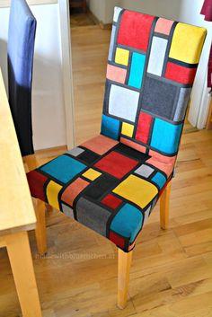 madewithbluemchen: neuer Bezug für den Stuhl * StainedGlassPatchwork
