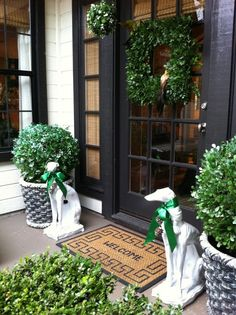 SEASONAL – AUTUMN – october has many benefits, and an abundance of boxwoods and topiaries is just one of them.