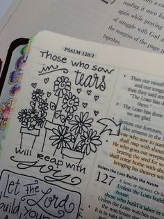 "Ps 126:5&6 ""Sow with tears, reap with joy"" - Bible Journaling by Nola ✭★✭"