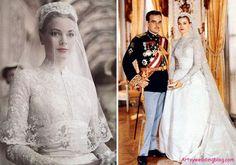 grace kelly lace wedding dress