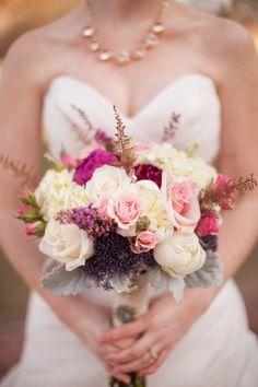 Ecru and pink bouquet