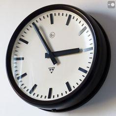Czechoslovakian Industrial Factory Clock, 1960s, Bakelite - Explosion Proof