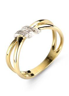 Diamond Point Classic gouden ring