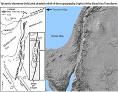 Dead Sea Tectonic And Topographic Map