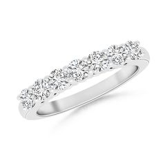 Airline-Set-Diamond-Semi-Eternity-Wedding-Band-Ring