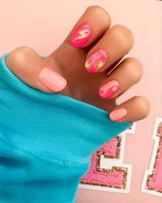 Simple Acrylic Nails, Best Acrylic Nails, Simple Nails, Cute Gel Nails, Funky Nails, Gorgeous Nails, Pretty Nails, Acryl Nails, Minimalist Nails