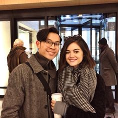 Lucy Hale with fans in New York City - January 5, 2015