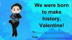 on Ice valentines Valentines Anime, Valentines Day Memes, Valentine Cards, Anime Pick Up Lines, Ice Pick, ユーリ!!! On Ice, Yuri On Ice, Manga, Reaction Pictures