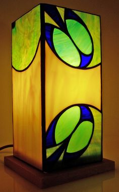 Tiffany stained glass box lamp Lindsay Hall