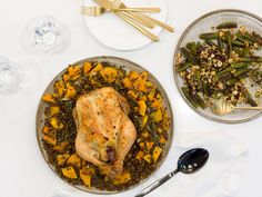 """Athena joins natural foods chef and co-host of ABC's """"The Chew,"""" Daphne Oz to create her Braised Chicken & Okra recipes from her new cookbook, """"The Happy Cook."""""""