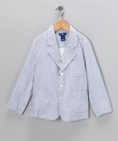 #zulily #fall Blue Stripe Jacket - Toddler & Boys