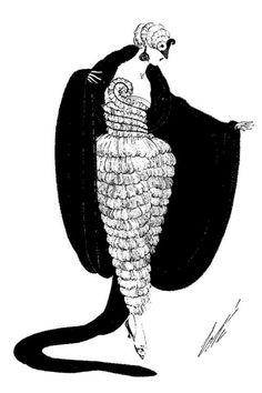 Erté, fashion illustration for Harper's Bazaar