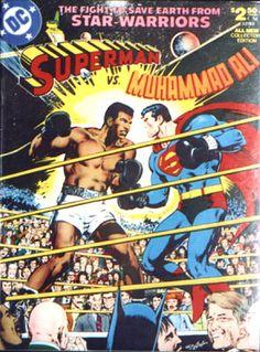 COMIC superman versus muhammad ali #comic #cover #art