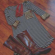 """""""Pretty In Stripes"""" ~$32 Shop Now > http://nomijaneboutique.com/collections/dresses/products/striped-dress?variant=6532551940"""