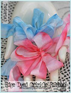 Edge Dyed Crinkle Ribbon by Tammy Tutterow | www.tammytutterow.com