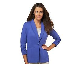 Pin to Win #SusanGraver Sweepstakes! {Brushed French Terry Boyfriend Jacket} Enter here: http://sweeps.pinfluencer.com/QVC