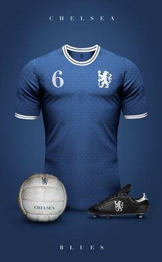 Chelsea - Camisetas vintage de gigantes de Europa