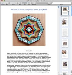 pdf Instructions for making your own 8 or 12 sided Ojo de Dios