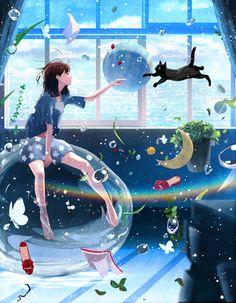 Yeshu Naam and What a Beautiful Name + Manga Anime, Manga Art, Aesthetic Art, Aesthetic Anime, Illustration Pop Art, Wallpaper Animes, Tumblr Wallpaper, Anime Artwork, Anime Scenery