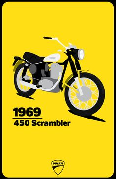 1969 Ducati Scrambler. Illustration by u/MrSporrer
