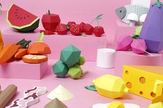Illustration art food design crafts graphic design paper art papercraft art direction paper craft
